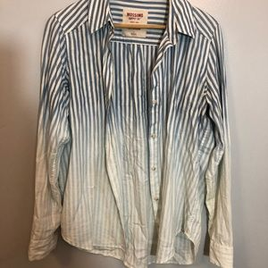 Relaxed blue ombré button up
